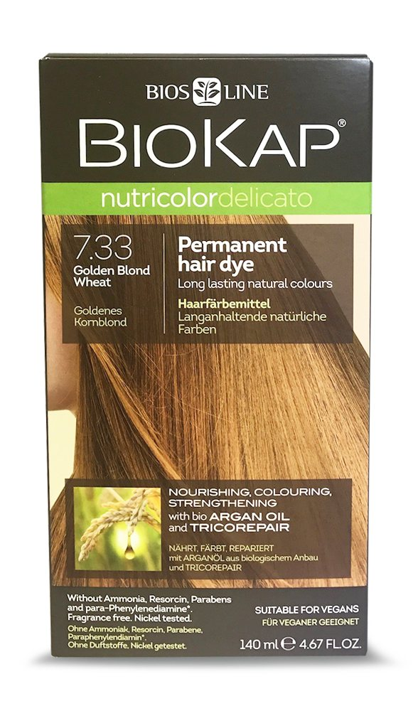 BioKap Golden Blond Wheat 7.33 Permanent Hair Dye 140ml