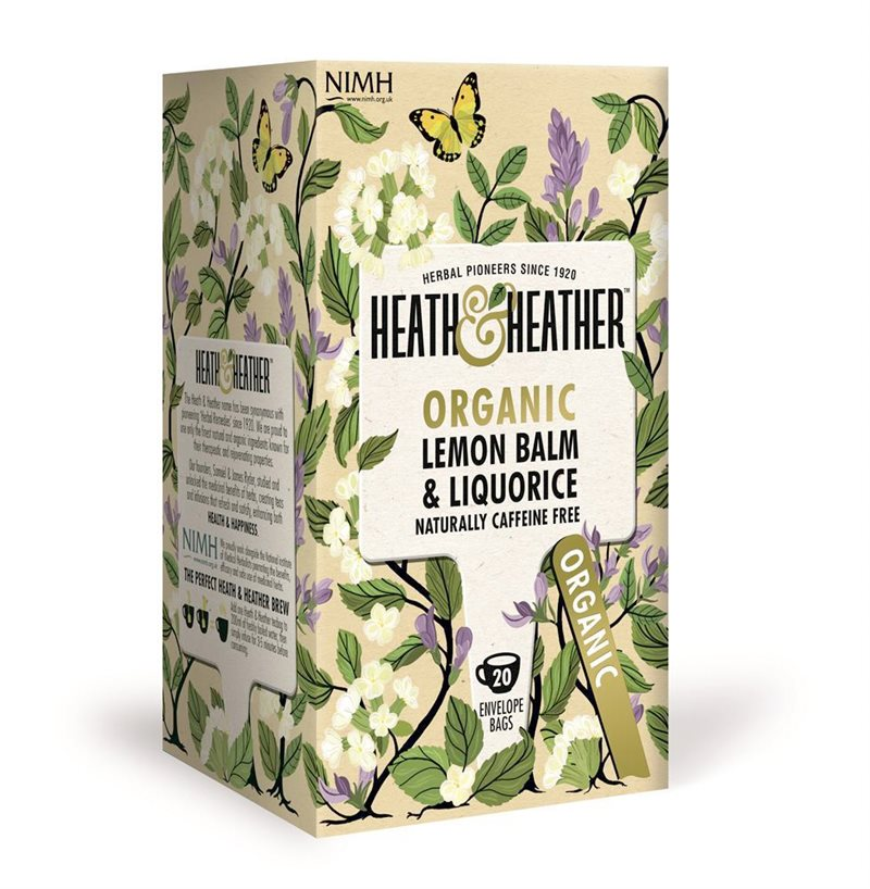 Heath & Heather Organic Lemon Balm & Liquorice 20 Tea Bags