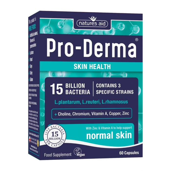 Natures Aid Pro-Derma (15 billion Bacteria) 60 caps