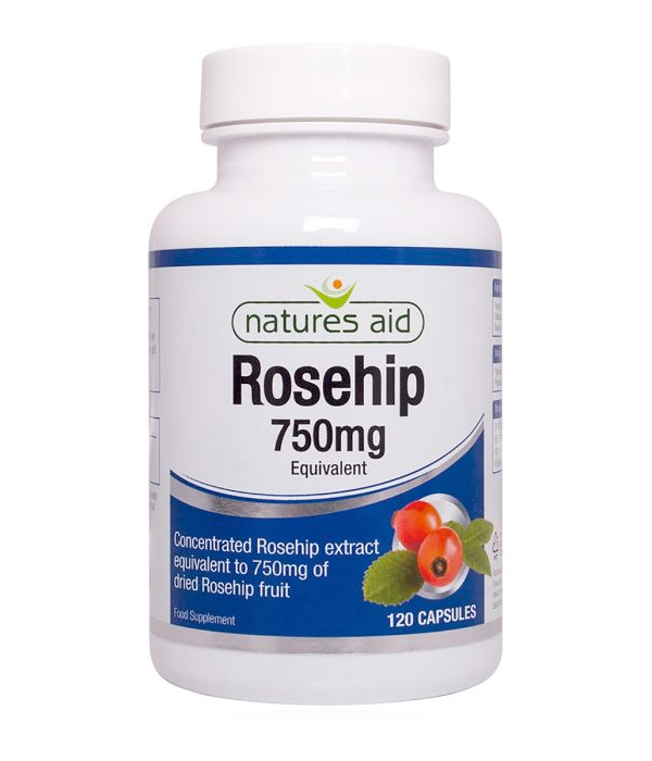 Natures Aid Rosehip 750mg 120 Caps