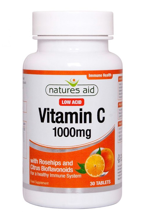 Natures Aid Vitamin C - 1000mg Low Acid  30 tabs