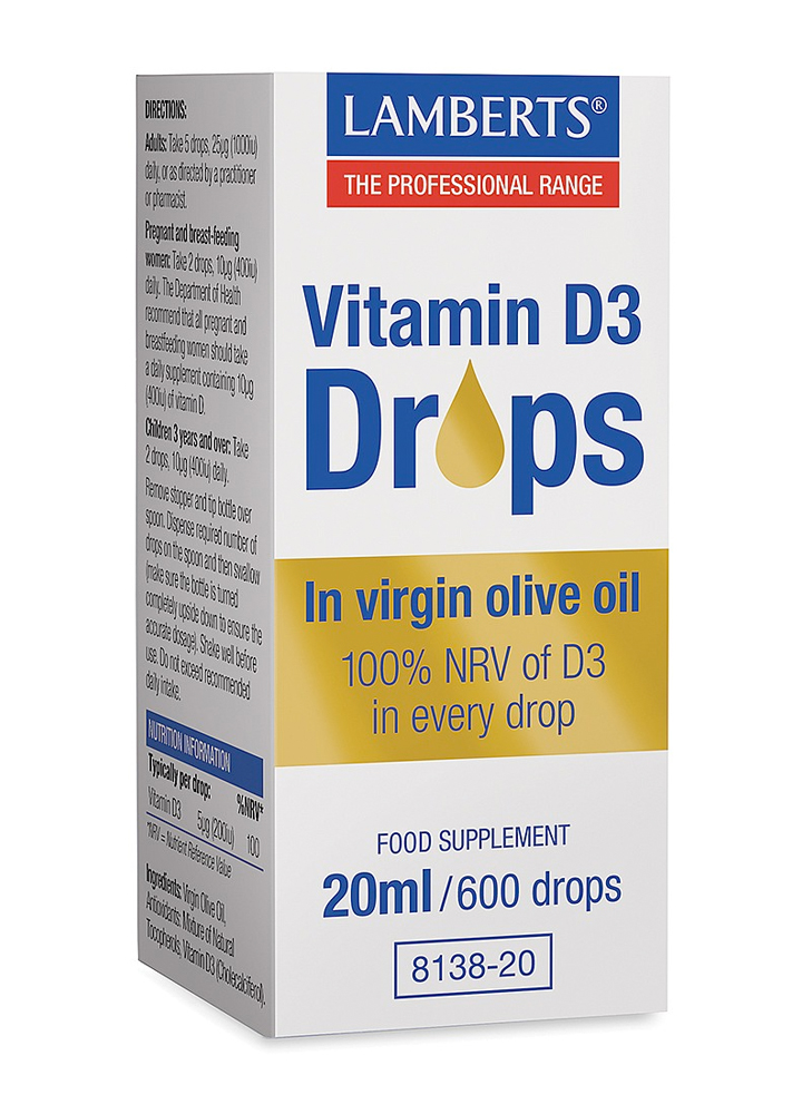 Lamberts Vitamin D3 Drops 20ml